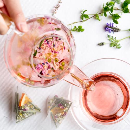 Nilufer Tea pot glass